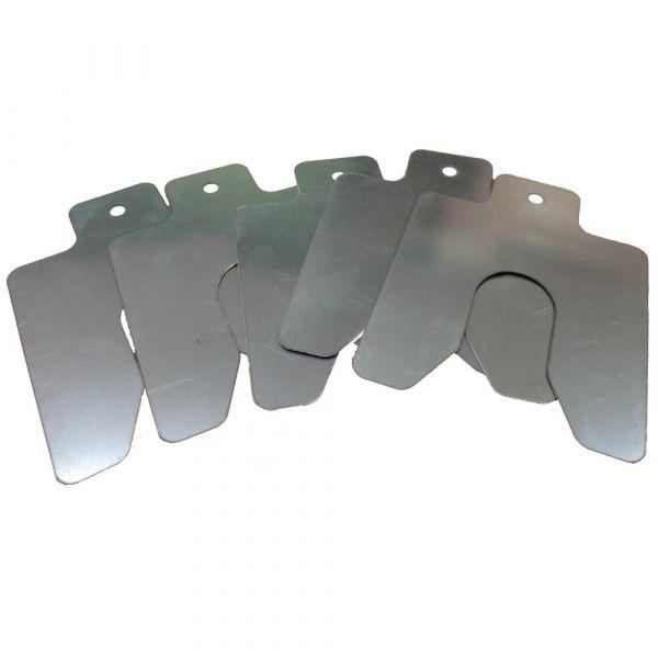 Пластины центровочные КСИЗ-№65-М20 паз ширина 21мм размер 75х75мм (0,05;0,1;0,2;0,3;0,4;0,5;0,7;0,8;1,0)