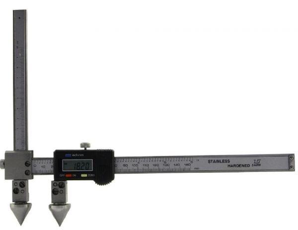 Штангенциркуль спец. ШЦЦСЦ-2 20-200-0.01 губ. 175мм для изм. расст. м/у центрами отверстий с конич. изм. вставками и подвижной изм. губ. (Поверка)