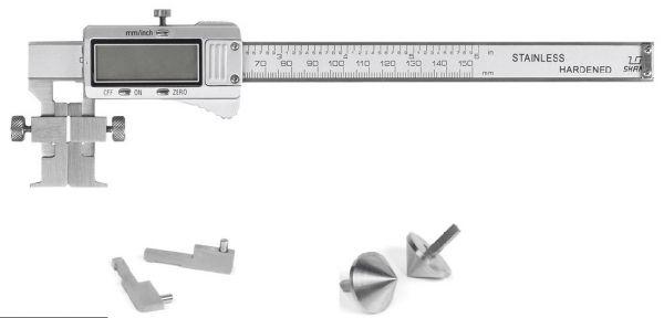 Штангенциркуль спец. ШЦЦСС 0-150-0.01 губ.40 для изм внут. И наружнных канавок и пазов, изм. расст. м/у центрами отверстий (Поверка)