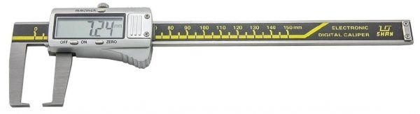 Штангенциркуль спец. ШЦЦСК-5 0-150-0.01 губ.40мм для изм наружных канавок и пазов (Поверка)