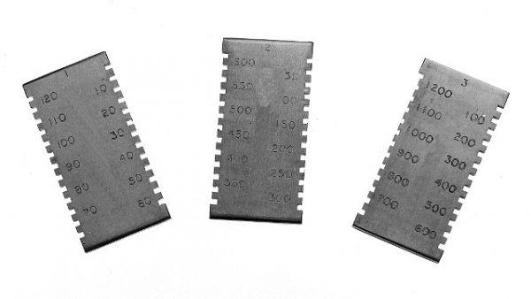 Гребенка для измерения толщины мокрого слоя ЛКП-3238/2 50мкм-600мкм (КСИЗ)